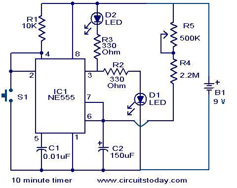 10 Minute timer circuit
