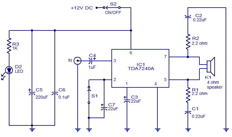 20W amplifier using TDA7240 audio amplifier circuit page 18 audio circuits next gr