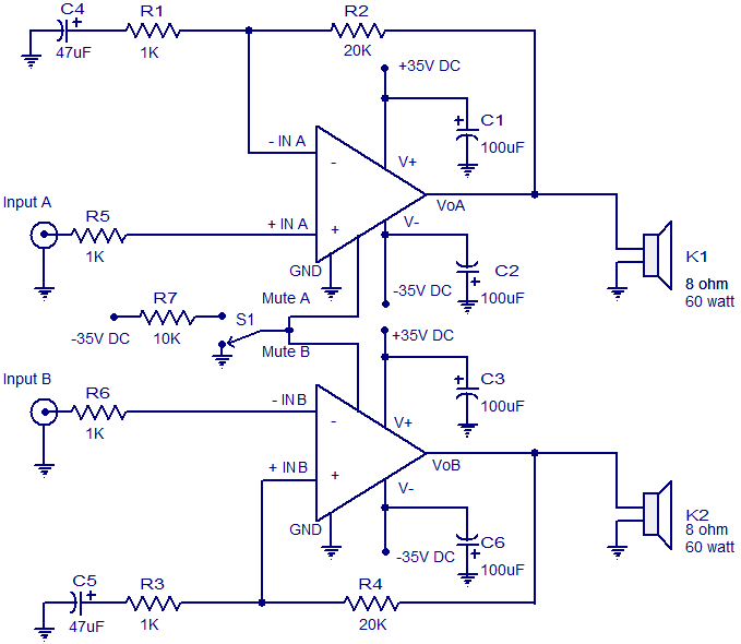audio amplifier circuit Page 22 : Audio Circuits :: Next gr