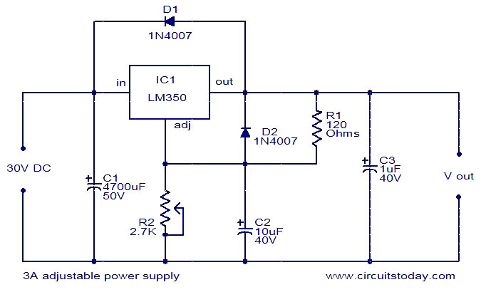 12v 3a Power Supply Circuit Diagram Not Lossing Wiring Diagram