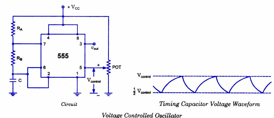 555 Timer Oscillator - schematic