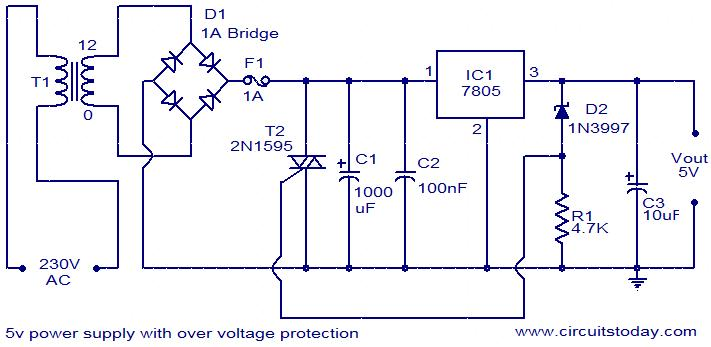 5v Power Supply With Overvoltage Protection Repository