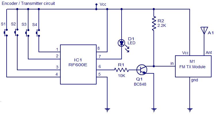 FM remote Encoder/Decoder - schematic