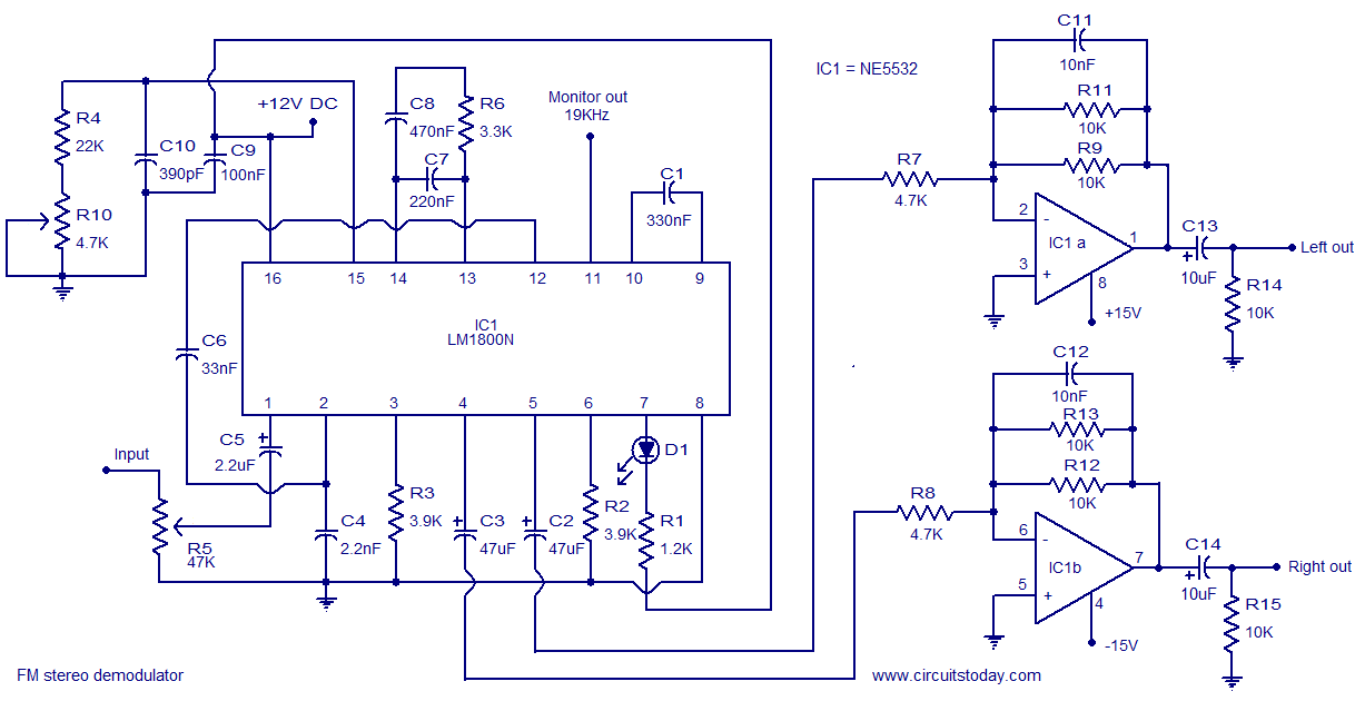 LM1800 Stereo Demodulator - schematic