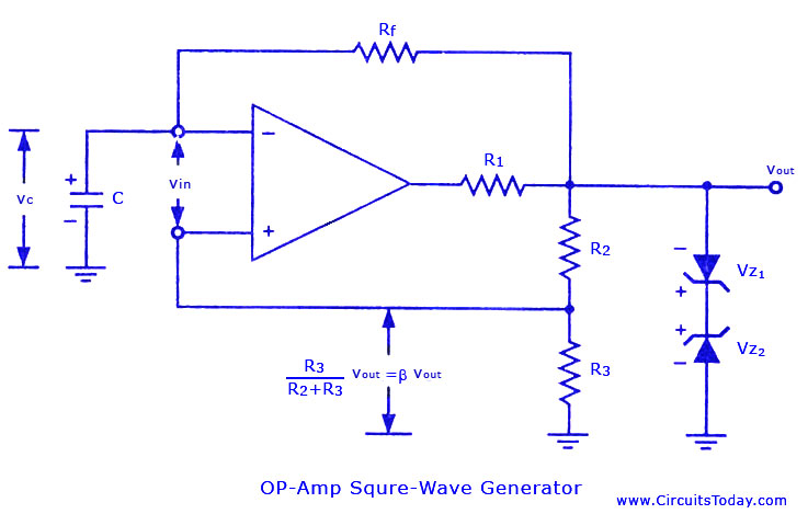 Square Wave Generator : Gt circuits square wave generator using op amp l