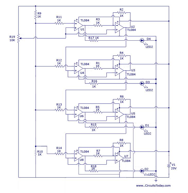 Voltage Level Detector Circuit - schematic