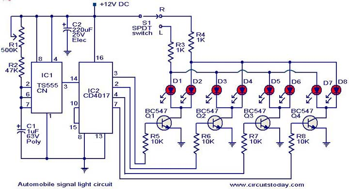 Electrical Wiring Diagram Of Automotive : Diy w orange led sequential turn signal project