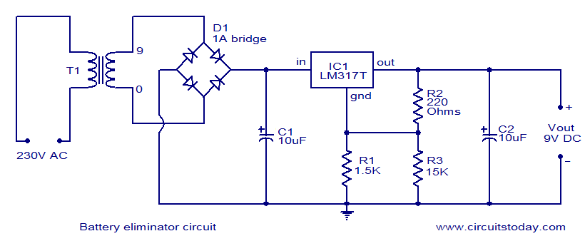 gt  circuits  gt  battery eliminator circuit l31567 next gr Vtvm Battery Eliminator Rechargeable Battery Circuit