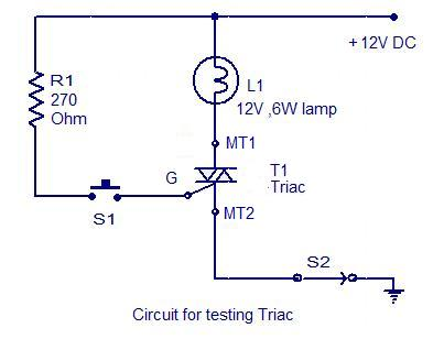 How to test a triac - schematic