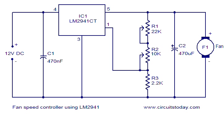 Fan speed controller using LM2941