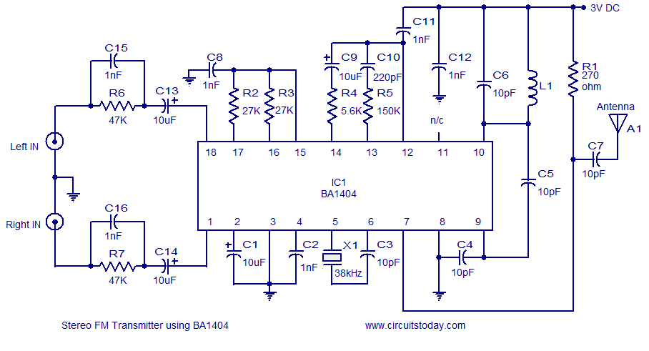 fm transmitter circuit page 7 rf circuits next gr rh next gr Wireless FM Transmitter FM Audio Transmitter