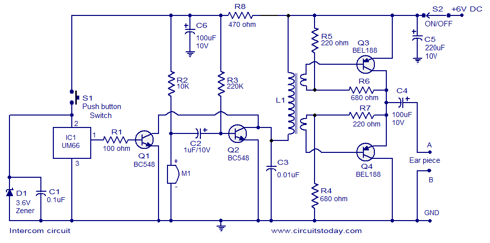 intercom circuit intercom circuit page 2 telephone circuits next gr aircraft intercom wiring diagram at bayanpartner.co