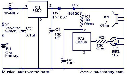 industrial air horn schematic electronic horn schematic musical car reverse horn circuit under repository-circuits -37180- : next.gr