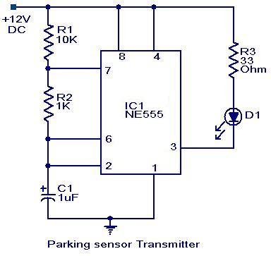Parking sensor circuit - schematic