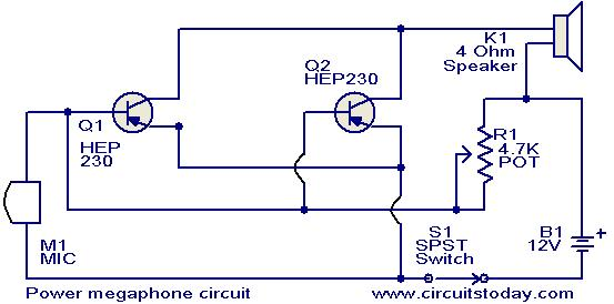 u0026gt  circuits  u0026gt  power megaphone circuit l37203