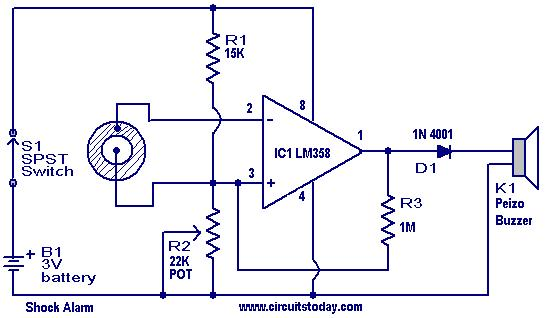 Shock Alarm Circuit Under Repository Circuits 37239