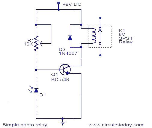 Photo Relay Circuit Under Repository Circuits 37196
