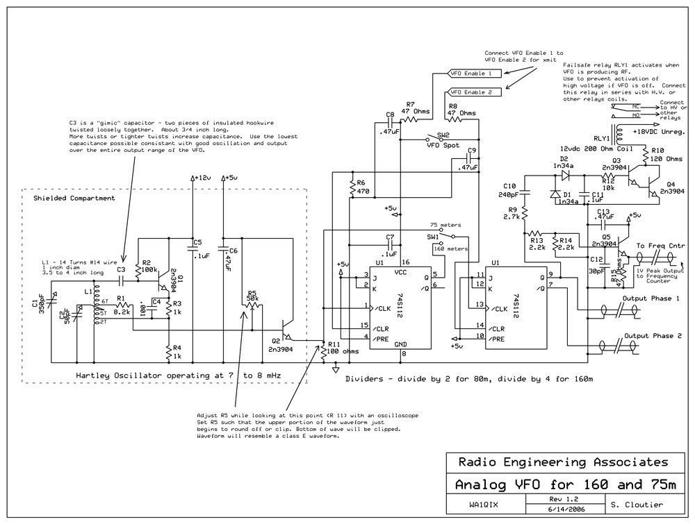 Building AM Transmitter using TTL oscillator as frequency source - schematic