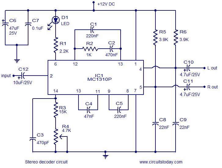 decoder circuit page 2 digital circuits next gr Audio Amplifier Circuit Circuit Schematics