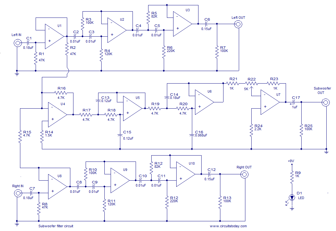 Results Page 317 About Toy Car Remote Controller Circuit Reed Switch Controls Operational Amplifier Diagram Subwoofer Filter Here Is The Of An Opamp