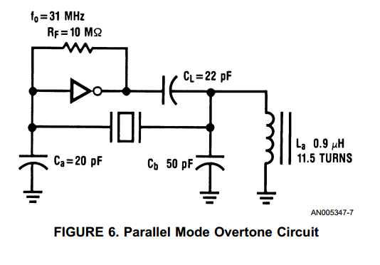 variable quartz crystal oscillator vxo circuit