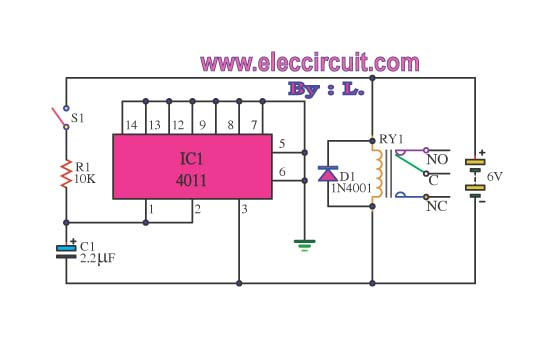 4011 IC For Protection Surge Electronic CIrcuit Diagram