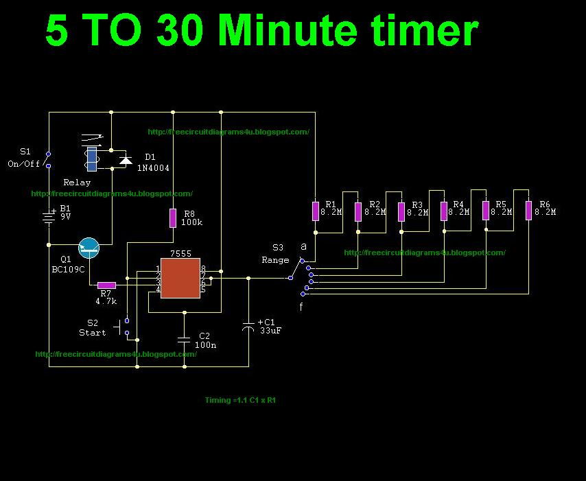 adjustable timer circuit diagram with relay output – readingrat, Wiring circuit