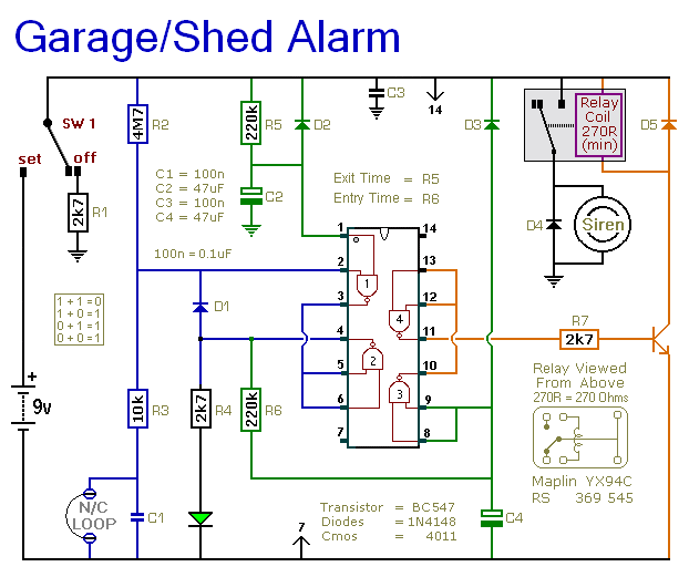 Alarm Circuit Page 14 Security Circuits Next Gr