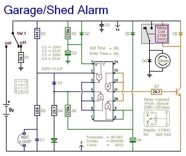Alarm Circuit Page 14 Security Circuits Next Gr