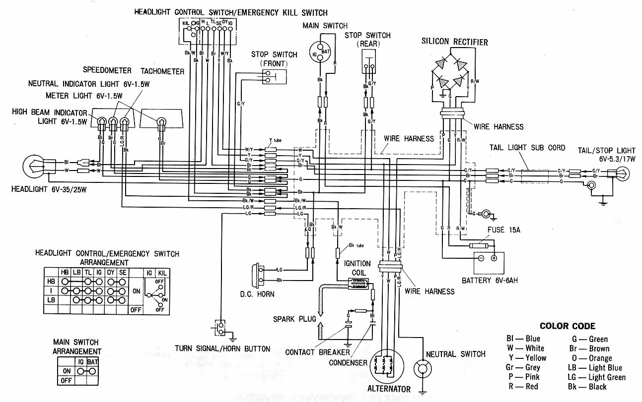 honda xl100 electrical schematic under repository-circuits