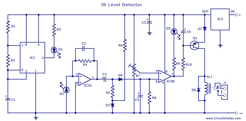 555 timer circuit page 15 other circuits next gr pir sensor ir remote switch circuit diagram for