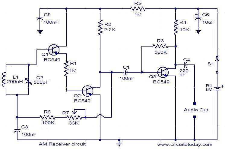 Diagram Besides Metal Detector Circuit Diagram Likewise Am Radio