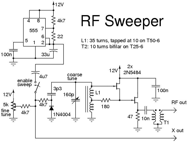 Rf Signal Generator Circuit : Timer ic for rf sweeper