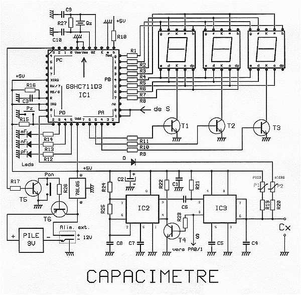 capacitance meter   68hc711d3fn   under meters circuits