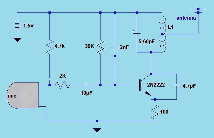 15V Simple FM Transmitter