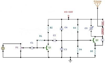2 Watt FM Transmitter - schematic