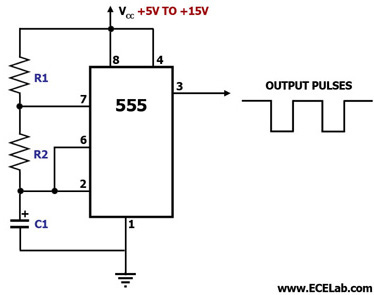 555 vibrator astable