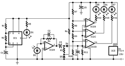 car parking sensor circuit using infra - schematic