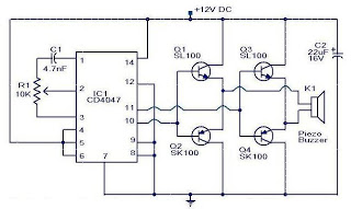 circuit ultrasonic mosquito - schematic
