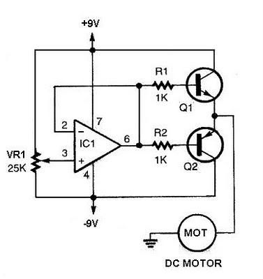 Dc Motor Controller Circuit Using 741