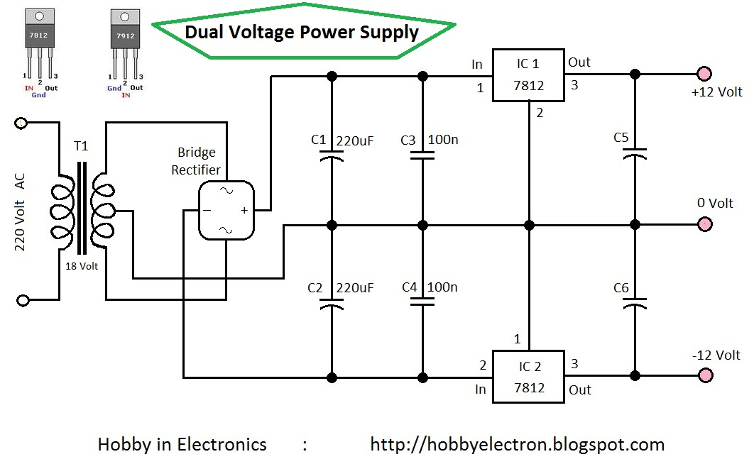 Schematic 7812 Voltage Regulator The Wiring Diagram