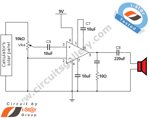 laser communication project circuit - schematic