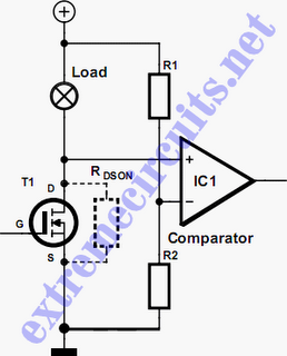 MOSFET short-circuit protection Schematic Diagram