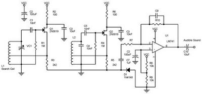 Metal Detector Circuits Schematic Diagram - schematic