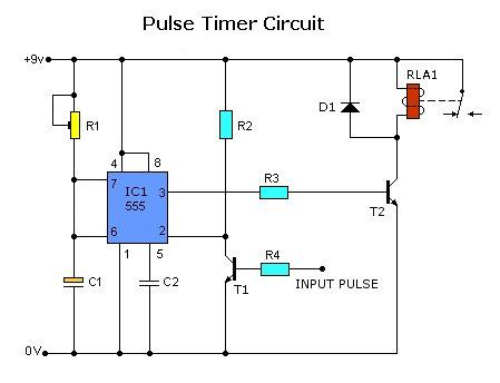 Gt Circuits Gt Pulse Timer Control Relay Circuit L32946
