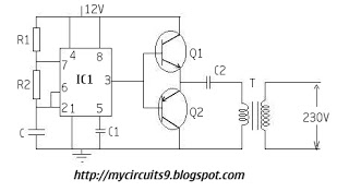 SIMPLE INVERTER CIRCUIT 230V