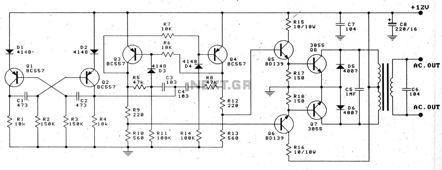 New Circuits Page 11 Low Cost And Simple Intercom Circuit Design Some 12v To 220v 100w Transistor Inverter