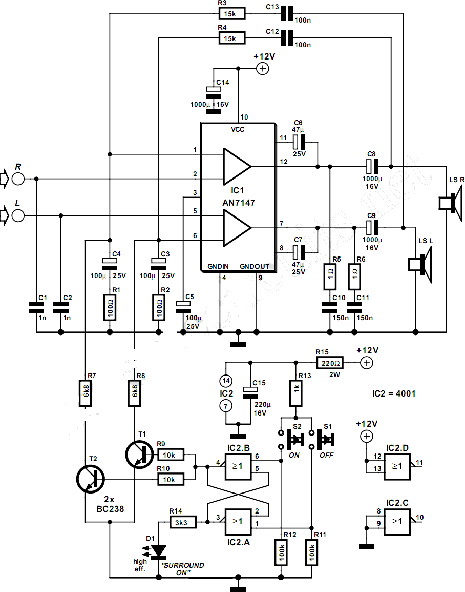 Audio Amplifier Circuit Page 15 Circuits 1w Stereo Headphone Based Tda2822