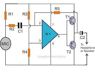 Electronic Spy Bug Circuit - schematic