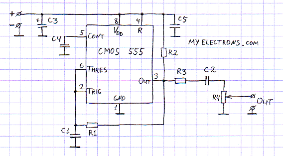 100khz square wave generator - schematic